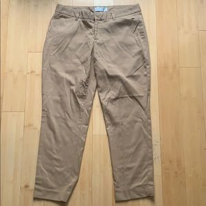 Gap khaki slim cropped trouser